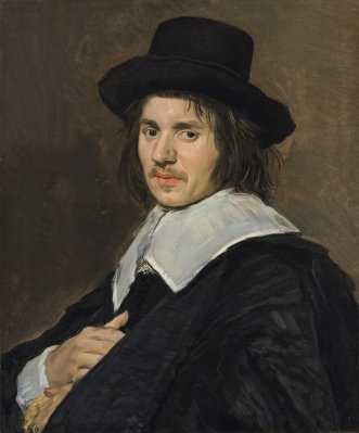 Frans Hals (Dutch, c. 1582/1583 - 1666), Portrait of a Man, 1648/1650, oil on canvas, Widener Collection 1942.9.28